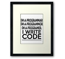 Programmer joke Framed Print