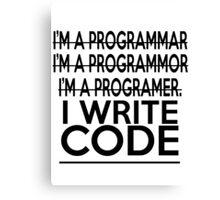 Programmer joke Canvas Print