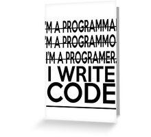 Programmer joke Greeting Card