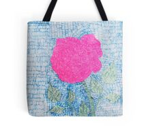 Pen and Ink Vibrant Rose Tote Bag