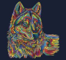 Psychedelic Wolf Baby Tee