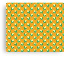 Cute Yellow Corn Pattern Canvas Print