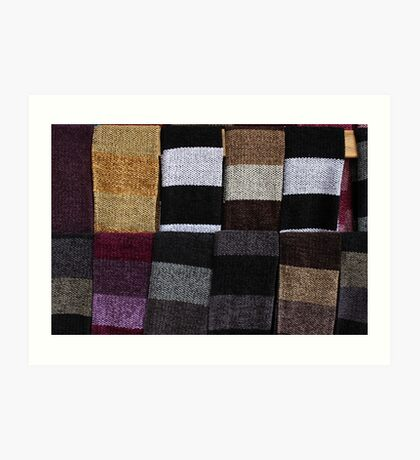 Knit Scarves Art Print