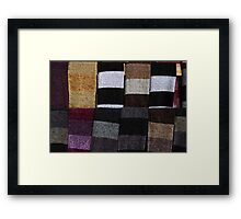 Knit Scarves Framed Print