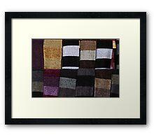 Knit Scarves Framed Print