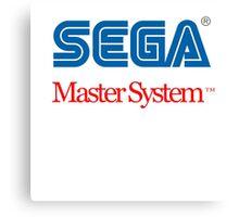 Sega Master System Logo Canvas Print