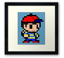 ness pixel art  Framed Print