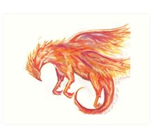 Mythical Combination: Pheonix + Griffin Art Print
