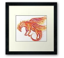 Mythical Combination: Pheonix + Griffin Framed Print