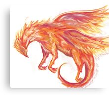 Mythical Combination: Pheonix + Griffin Canvas Print