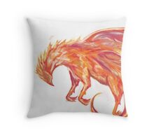 Mythical Combination: Pheonix + Griffin Throw Pillow