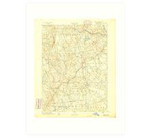 USGS TOPO Map Connecticut CT Gilead 331025 1892 62500 Art Print