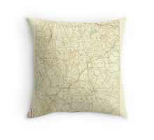 USGS TOPO Map Connecticut CT Gilead 331025 1892 62500 Throw Pillow
