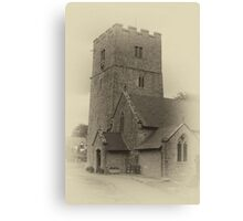 St Michael's Church, Caerwys ~ Sepia Image Canvas Print
