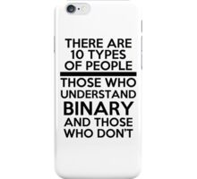 Binary joke iPhone Case/Skin