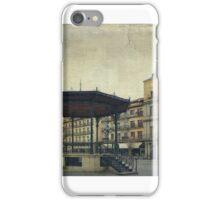 Plaza Mayor de Segovia. A foggy day. iPhone Case/Skin