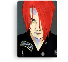 Gerard Way/Party Poison Canvas Print