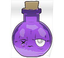 Purple Bottle Potion Elixir Poster