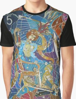 Five Stars of the Night Queen Graphic T-Shirt