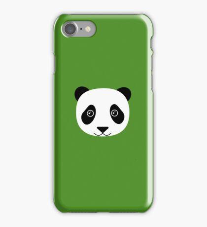 Happy Panda on green  iPhone Case/Skin