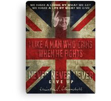 churchill Canvas Print
