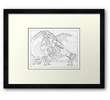 Hoarding Serpent Framed Print