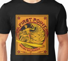 EPIC SURF DESIGNS MALIBU FIRST POINT SURFERS Unisex T-Shirt