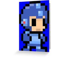 mega man pixel art Greeting Card