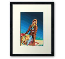 Surf Girl Framed Print