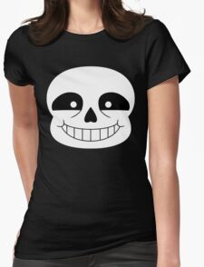 Simplistic Sans Womens Fitted T-Shirt