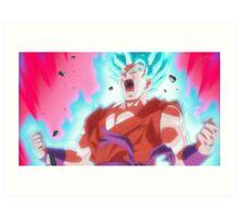 """""""Goku Kaioken SSJ Blue - Dragon Ball Super"""" Art Print"""