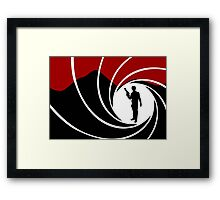 Han Solo - James Bond - Mix up - Death - Minimal - Star Wars - 007 - Black White Red Framed Print