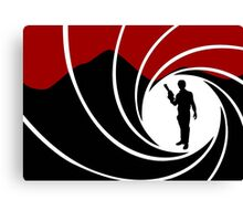 Han Solo - James Bond - Mix up - Death - Minimal - Star Wars - 007 - Black White Red Canvas Print