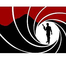 Han Solo - James Bond - Mix up - Death - Minimal - Star Wars - 007 - Black White Red Photographic Print