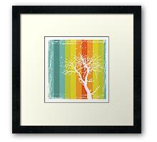 Tree and Color Range Framed Print