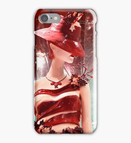 Lady Chocolate Portrait (made of chocolate) iPhone Case/Skin