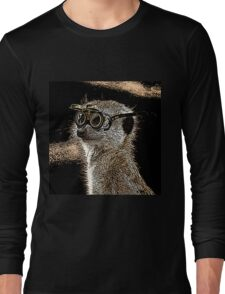 Steampunk Mongoose with Goggles and Attitude Long Sleeve T-Shirt