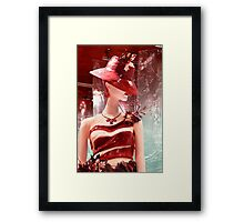 Lady Chocolate Portrait (made of chocolate) Framed Print