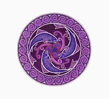 Purple Fish Spiral Unisex T-Shirt