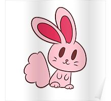Adorable Light Pink Bunny Poster