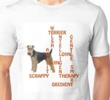 Welsh Terrier Crossword Puzzle Unisex T-Shirt