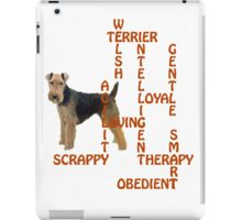 Welsh Terrier Crossword Puzzle iPad Case/Skin