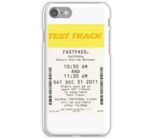 Test Track Fastpass iPhone Case/Skin