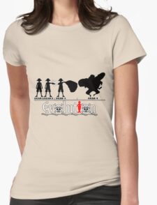 Evolution of Luffy Womens Fitted T-Shirt