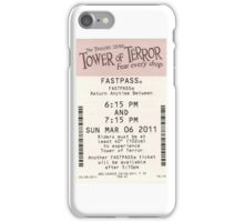Tower of Terror Fastpass iPhone Case/Skin