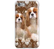 Beautiful Cavalier Spaniel Mother and Puppy iPhone Case/Skin