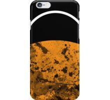 Sunset - Abstract, geometric art in gold, black and white iPhone Case/Skin