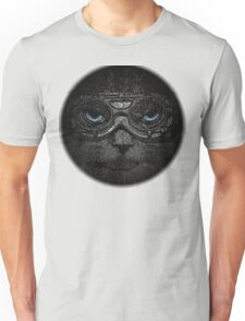 Sulky Steampunk Moggie with Goggles and Attitude Unisex T-Shirt