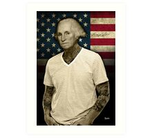 George Washington tattoo Art Print