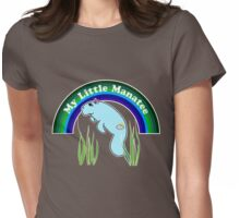 My Little Manatee (dark background) Womens Fitted T-Shirt